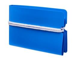 Plastové skládací pouzdro na roušku BURIN - modrá