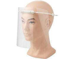 Plastový ochranný štít na obličej GLOMI s technologií Biomaster - bílá