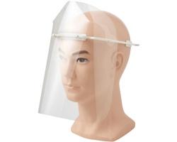 Plastový ochranný štít na obličej CALLA s technologií Biomaster - bílá