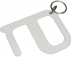 Plastový hygienický klíč VALIER s technologií Biomaster - bílá