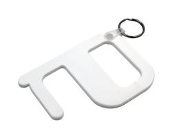 Plastový hygienický klíč SAMLET s technologií Biomaster - bílá