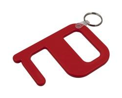 Plastový hygienický klíč SAMLET s technologií Biomaster - červená