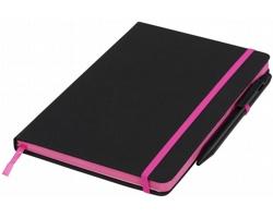 Zápisník TARAWA, formát A5 - černá / růžová