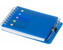 Kompaktní zápisník PINUP s kroužkovou vazbou a perem - modrá