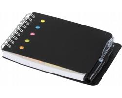 Kompaktní zápisník PINUP s kroužkovou vazbou a perem - černá