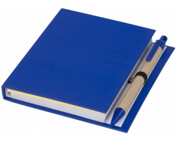 Poznámkový blok EYRA s perem a lepicími bločky - modrá