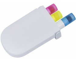 Sada gelových zvýrazňovačů DOLI, 3 ks - bílá