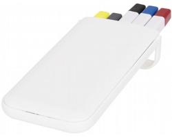 Sada psacích potřeb MERGE v plastovém pouzdru - bílá