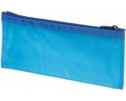 Plastové pouzdro na tužky BURNWELL - transparentní modrá