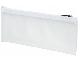 Plastové pouzdro na tužky BURNWELL - transparentní bílá