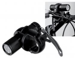 Kovová LED svítilna ELECTRA na kolo - černá