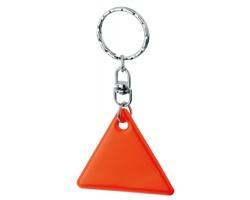 Reflexní přívěsek HOWIE ve tvaru trojúhelníku - fluorescenční oranžová