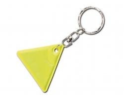 Reflexní přívěsek HOWIE ve tvaru trojúhelníku - fluorescenční žlutá