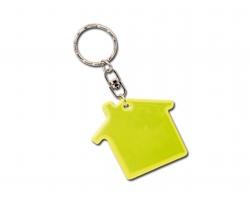 Reflexní přívěsek RESIDENCE ve tvaru domku - fluorescenční žlutá