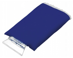 Plastová autoškrabka GLOVE s rukavicí - modrá