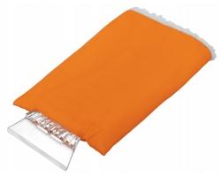 Plastová autoškrabka GLOVE s rukavicí - oranžová