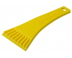 Plastová škrabka RIA do auta - žlutá