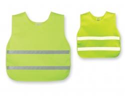 Dětská bezpečnostní vesta SKIBI II s reflexními pásky - fluorescenční žlutá