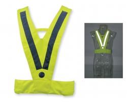 Reflexní vesta ATILA II ve tvaru V - žlutá