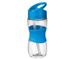 Sportovní láhev ELIJAH s brčkem, 350ml - světle modrá