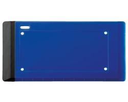 Plastová škrabka na dálniční známky VIGNETTE se stěrkou a čistícím ubrouskem - královská modrá