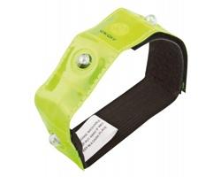 Textilní reflexní pásek VISIBLE s červeným LED světlem - žlutá