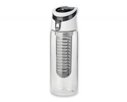 Plastová sportovní láhev s infuzérem na ovoce INFUSER, 700 ml - černá