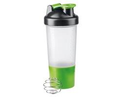 Plastový sportovní šejkr SHAKEPRO s kuličkou z nerezové oceli, 600 ml - světle zelená