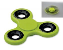 Plastový spinner SPIN pro odbourání stresu - světle zelená