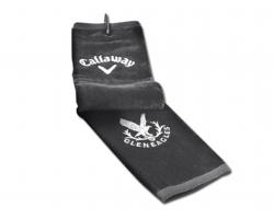 Golfový ručník Callaway CALLAWAY TOWEL s karabinou - šedá