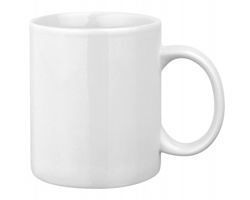 Keramický hrnek MUG WHITE, 320 ml - bílá