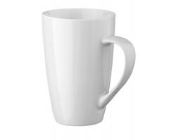 Bílý porcelánový hrnek FRANZ, 500 ml - bílá