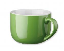 Keramický hrnek CHUBBY, 400 ml - světle zelená