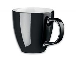 Porcelánový hrnek s hydroglazurou PANTHONY, 460 ml - černá