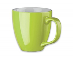 Porcelánový hrnek s hydroglazurou PANTHONY, 460 ml - limetkově zelená