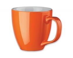 Porcelánový hrnek s hydroglazurou PANTHONY, 460 ml - oranžová