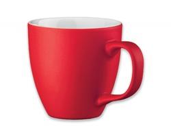 Porcelánový hrnek s hydroglazurou PANTHONY MAT, 460 ml - červená