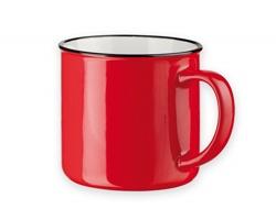 Klasický keramický hrnek VERNON, 320 ml - červená