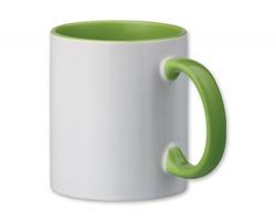 Keramický sublimační hrnek SUBLIM COLOUR, 340 ml - světle zelená