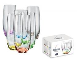 Sada sklenic Bohemia RAINBOW GLASS s barevným dnem, 350ml