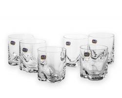 Sada sklenic POURY pro podávání alkoholu, 6 ks, 280 ml - transparentní