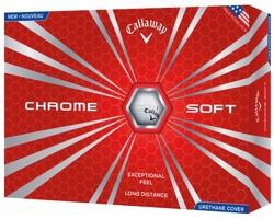 Sada golfových míčků CALLAWAY CHROME SOFT, 12 ks - bílá