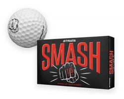 Sada golfových míčků STRATA SMASH v papírové krabičce, 15 ks - bílá