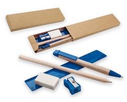 Sada kuličkového pera a tužky MILLET se 3 doplňky - modrá