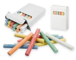 Sada barevných kříd CREATIVE, 12 ks - bílá