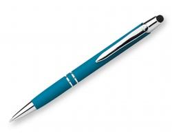 Značkové kovové kuličkové pero Santini MARIETA STYLUS SOFT se stylusem - světle modrá
