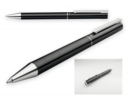 Kovové kuličkové pero Santini LUCERO v dárkové krabičce - černá