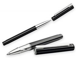 Kovové keramické pero Santini LUCERO ROLLER v dárkové krabičce - černá