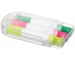 Sada gelových zvýrazňovačů GELIX v pouzdře, 3ks - transparentní bílá