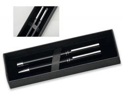 Sada kovového kuličkového a keramického pera Santini LUCERO SET - černá